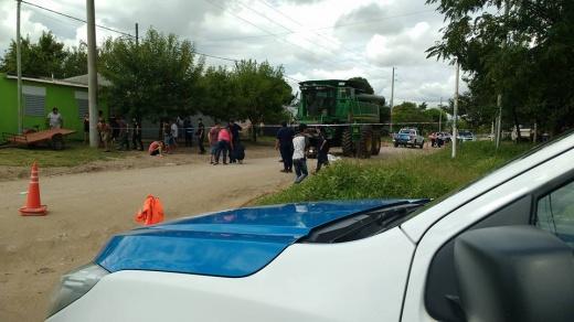 Trágico accidente en Nogoyá, un  niño falleció tras ser pisado por una cosechadora