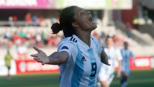 La nogoyaense Sole Jaimes marcó en la victoria de Argentina ante Colombia