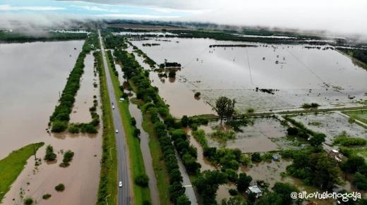 Impresionantes imágenes aéreas muestran la magnitud de la inundación en Nogoyá
