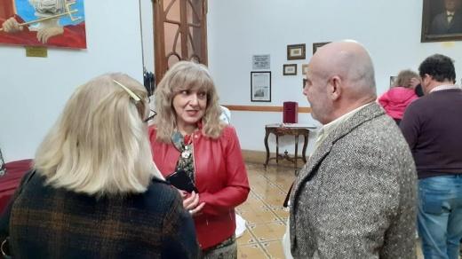 La artísta Susana Castañeras presentó sus obras en el Museo de Nogoyá