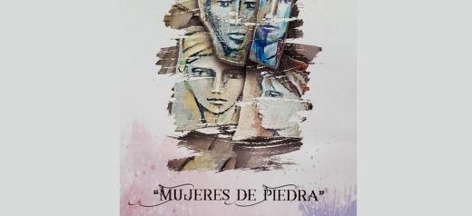 Liliana López Ruz presenta la muestra de pinturas sobre telas y piedras