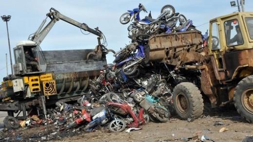 El Municipio de Nogoyá compactará motovehiculos abandonados