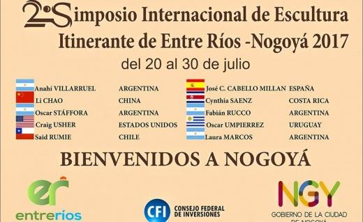 Bordet estará en Nogoyá para inaugurar el II Simposio Internacional de Escultura