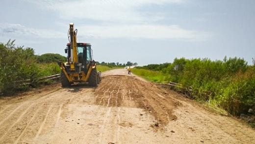 Vialidad lleva adelante tareas de conservación en el departamento Nogoyá
